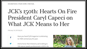 JCK 150th Hearts On Fire President Caryl Capeci