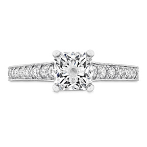 Liliana Milgrain DRM Engagement Ring - Dia Band