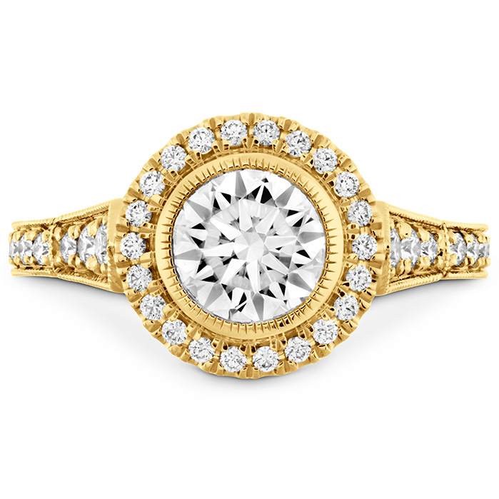 Deco Chic HOF Halo Engagement Ring